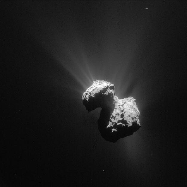 Jądro komety 67P na zdjęciu z 7 lipca / ESA/Rosetta/NAVCAM – CC BY-SA IGO 3.0 /