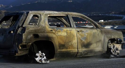 Los Angeles, USA - Pożar lasów dotarł do autostrady międzystanowej -4
