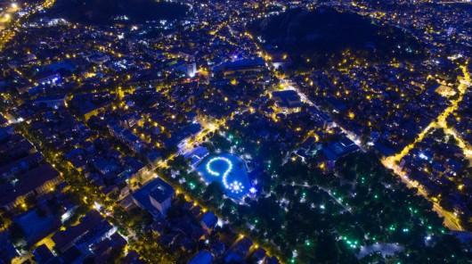 """2 zdjęcie z największą liczbą lajków internautów - """"Plovidv by night, Bulgaria"""" Ice Fire"""