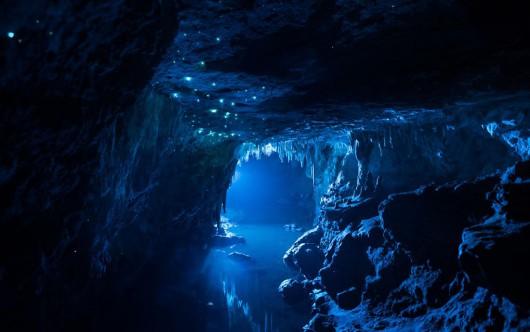 Nowa Zelandia - Niezwykła atmosfera w podziemnej grocie 5