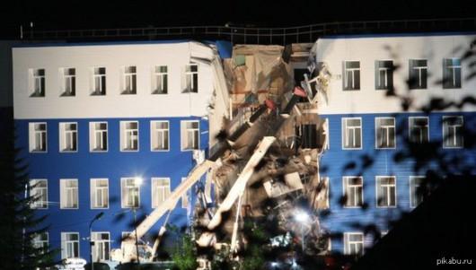 Omsku, Rosja - Częściowo zawalił się budynek koszar na Syberii, zginęły co najmniej 23 osoby -5