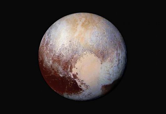 Pluton w kolorach (fałszywych) /NASA/JHUAPL/SWRI /