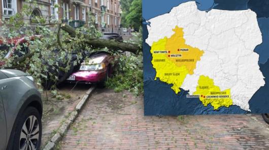 Polska - 2900 interwencji straży, wichury uszkodziły 125 budynków 2