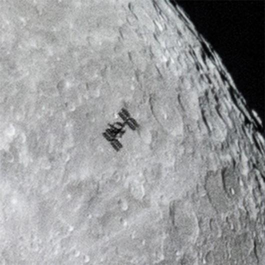 Powiekszenie fragmentu zdjęcia z ISS /Dylan O'Donnell /