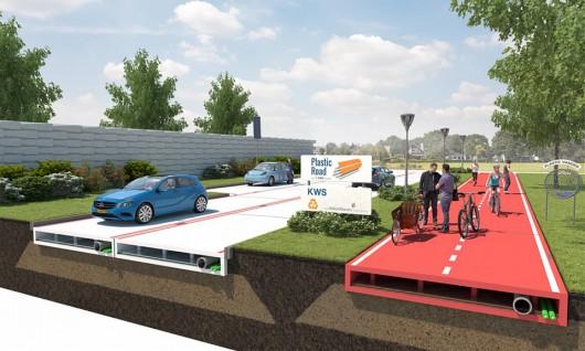 Rotterdam, Holandia - Wkrótce mogą się pojawić pierwsze drogi wykonane z tworzyw sztucznych