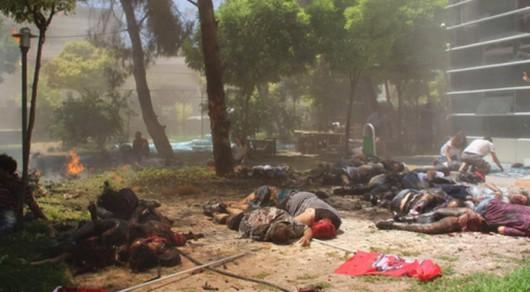 Suruç, Turcja - Silny wybuch w budynku ośrodka kultury, zginęło 28 osób, około 100 rannych