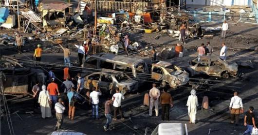 Bagdad, Irak - W ogromnym zamachu bombowym zginęło co najmniej 76 osób -4