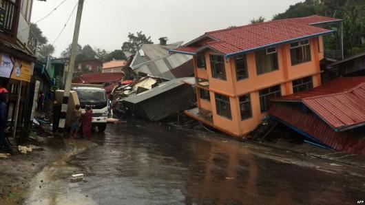 Birma, Indie, Nepal - Deszcze monsunowe zabiły co najmniej 96 osób -5