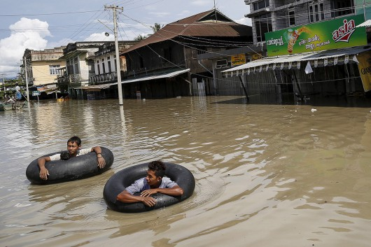 Birma, Indie, Nepal - Deszcze monsunowe zabiły co najmniej 96 osób -6