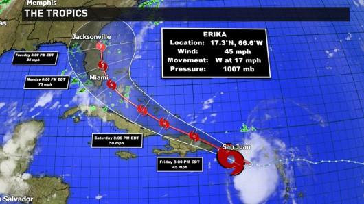 Burza tropikalna Erika przetoczyła się przez Karaiby -7