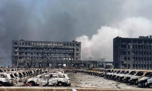 Chiny - Ogromne straty po potężnej eksplozji w Tianjin -11