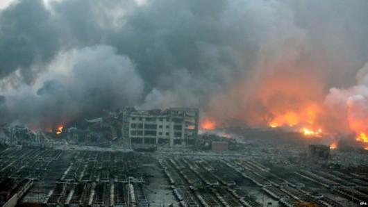Chiny - Ogromne straty po potężnej eksplozji w Tianjin -2