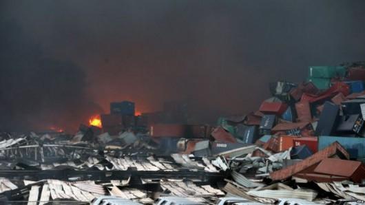 Chiny - Ogromne straty po potężnej eksplozji w Tianjin -3