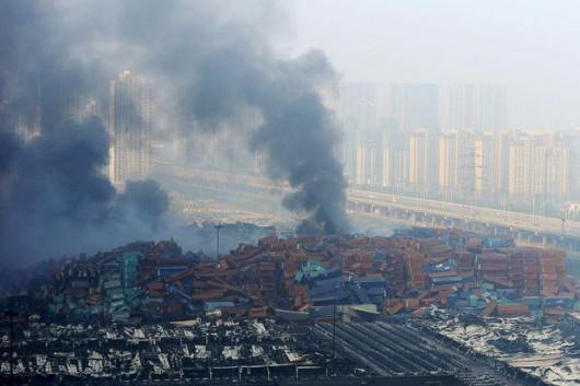 Chiny - Ogromne straty po potężnej eksplozji w Tianjin -4