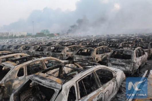 Chiny - Ogromne straty po potężnej eksplozji w Tianjin -5
