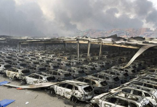 Chiny - Ogromne straty po potężnej eksplozji w Tianjin -6