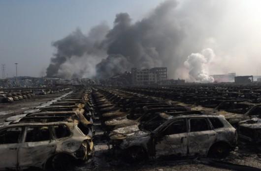 Chiny - Ogromne straty po potężnej eksplozji w Tianjin -7