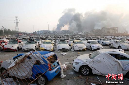 Chiny - Ogromne straty po potężnej eksplozji w Tianjin -8