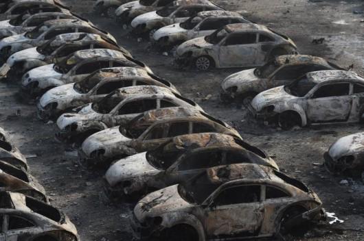 Chiny - Ogromne straty po potężnej eksplozji w Tianjin -9