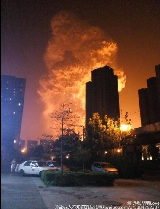 Chiny - Potężna eksplozja w Tianjin -1