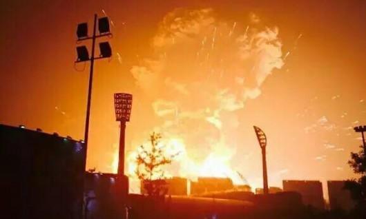 Chiny - Potężna eksplozja w Tianjin -5