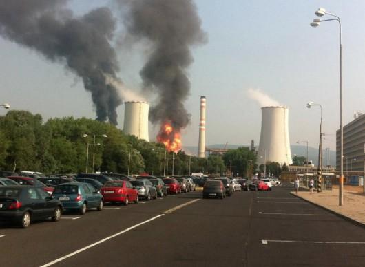 Czechy - Wybuch i pożar w rafinerii Unipetrol w Litwinowie