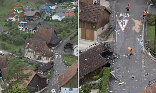 Dittingen, Szwajcaria - Dwa samoloty zderzyły się na pokazie lotniczym -3