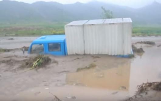 Korea Północna - Po wielomiesięcznej suszy ulewne deszcze, powódź zabiła 40 osób -2