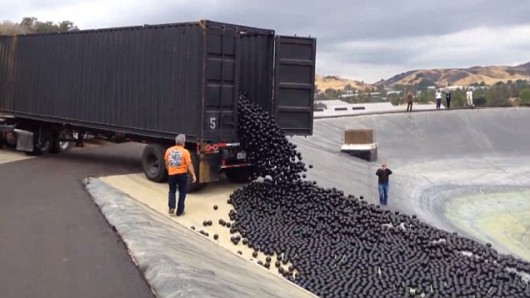 Los Angeles, USA - 96 milionów polietylenowych czarnych kulek będzie chronić zbiornik wodny -5