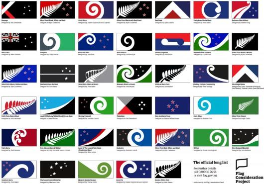 Wybrano 40 propozycji nowej flagi Nowej Zelandii