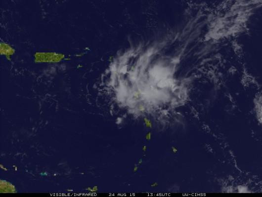 Obraz satelitarny Atlantyku