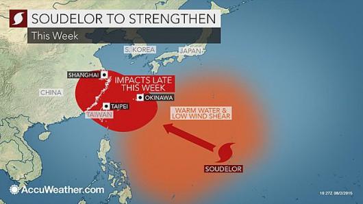Pacyfik - Najsilniejszy w tym roku supertajfun Soudelor kieruje się nad Chiny, Tajwan i Japonię -1