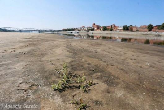 Polska - Rekordowo niski poziom wody w Wiśle, zaledwie 42 cm