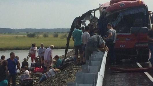Rosja - Czołowo zderzyły się dwa autobusy w Kraju Chabarowskim -4