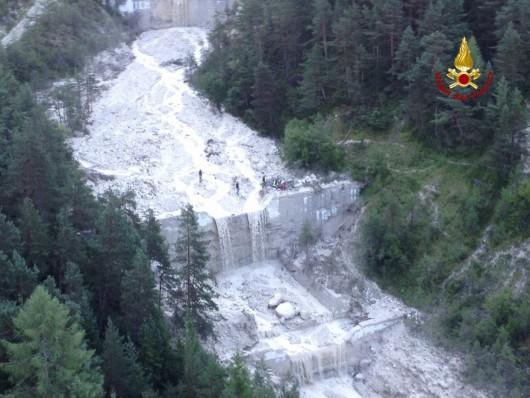 San Vito di Cadore, Włochy - Po ogromnej ulewie rzeka błota i kamieni porwała turystów -5