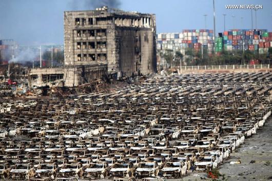 Tianjin, Chiny - Po wybuchu -3
