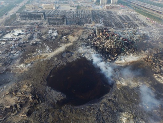 Tianjin, Chiny - Po wybuchu -4