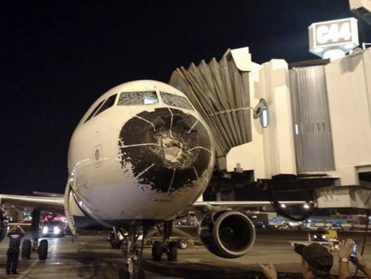USA - Samolot wleciał w burze gradową -2