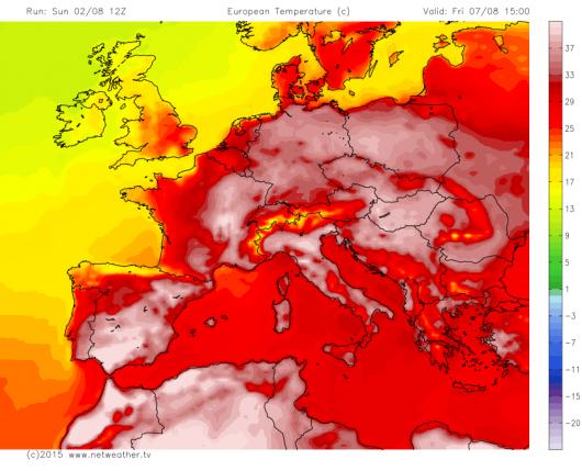 Upały w Europie