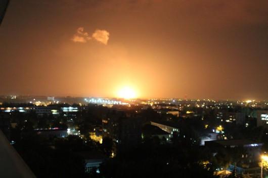 Uzbekistan - Potężna eksplozja gazociągu na przedmieściach Taszkentu 2