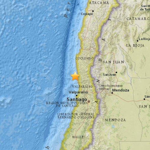Chile - Trzęsienie ziemi 8.3
