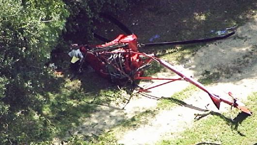 Eustis, USA - W Kalifornii spad mały helikopter