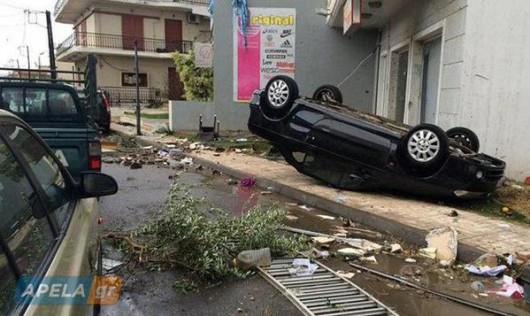 Grecja - Ulewny deszcze i tornado