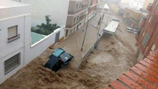 Hiszpania - Nawałnice nad Alicante, Adra, Granada i Almeria -1