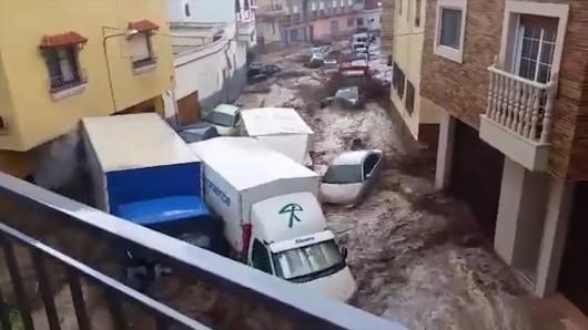 Hiszpania - Nawałnice nad Alicante, Adra, Granada i Almeria 6
