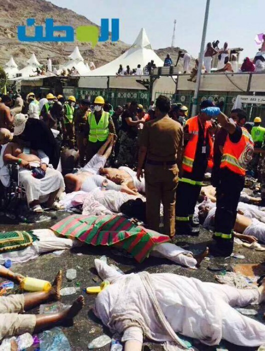 Mekka, Arabia Saudyjska - Co najmniej 717 ofiar śmiertelnych i 815 rannych w dolinie Mina