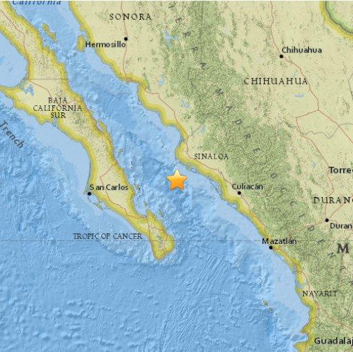 Meksyk - Trzęsienie ziemi o sile 6.6 w skali Richtera