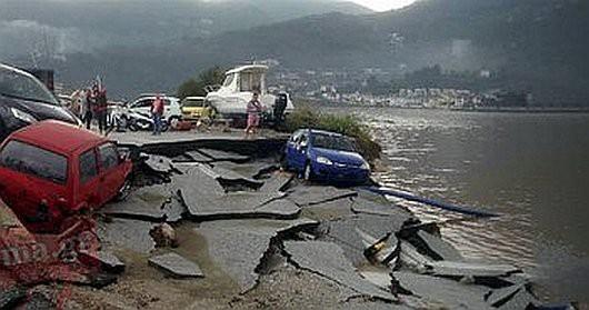 Peloponez, Grecja - Potężne opady deszczu -4