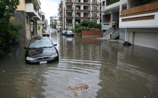 Peloponez, Grecja - Potężne opady deszczu -5