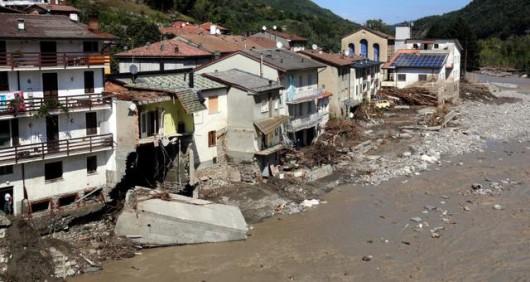 Piacenza, Włochy - Miejscami spadło 200 lmkw deszczu -1